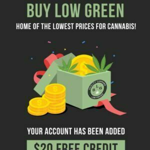 $20 Off First order for New Customers at Buy Low Green with this coupon code.