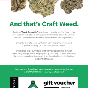 Get 7 Grams of Craft Cannabis 25% OFF today at Herb Approach