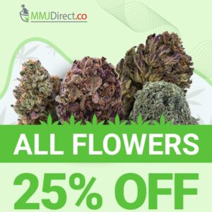 25% Off Coupon Code for MMJDirect Canada Dispensary 🇨🇦 for 25% off Cannabis Flower via 🇨🇦 Mail order Marijuana.